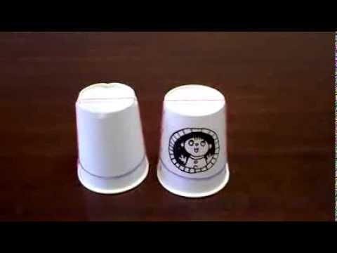 jumping paper cups ジャンピング紙コップ