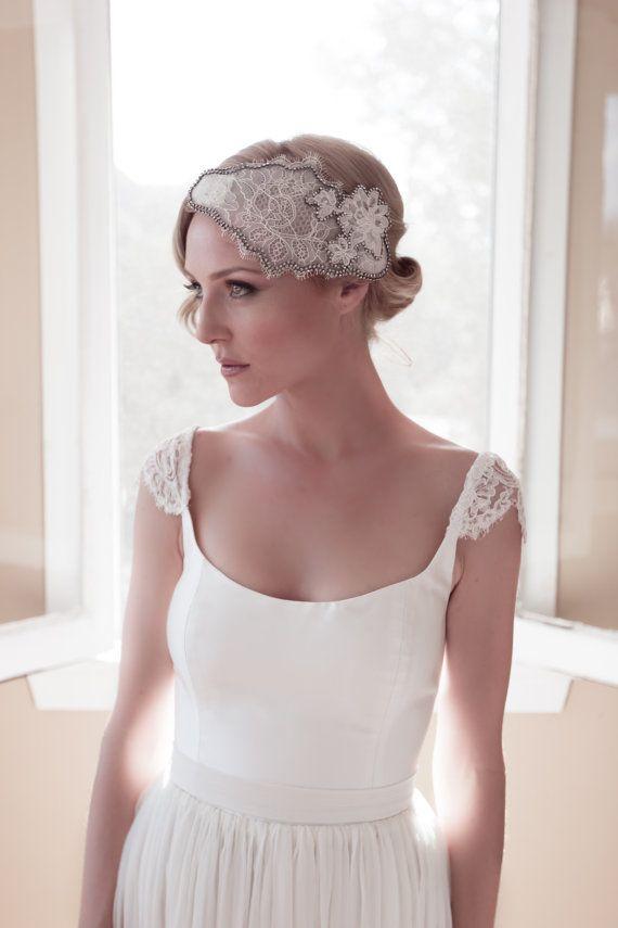 Chantilly Alencon Ivory Lace Juliet Mini Cap with by veiledbeauty, $289.00 Rustic.Woodland Wedding.Organic.Creative.