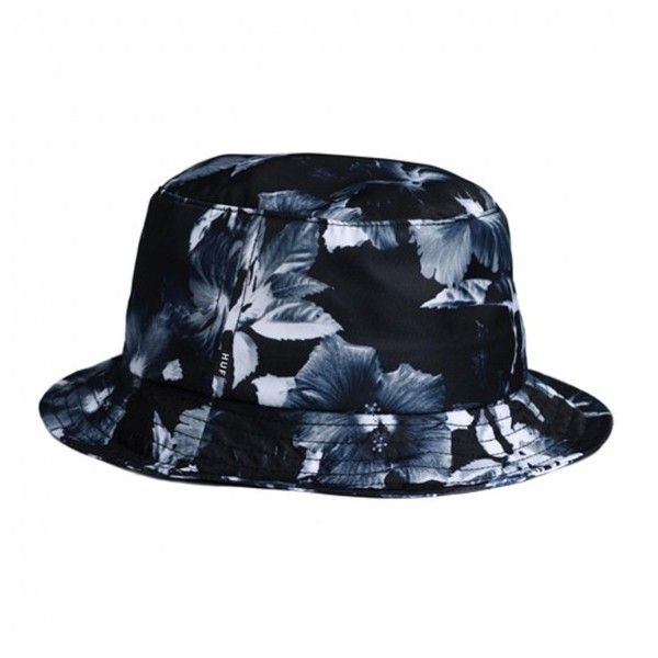 Huf Floral bucket hat Black Manchester (€47) ❤ liked on Polyvore featuring accessories, hats, floral print hat, floral bucket hat, bucket hat, fisherman hat and floral print bucket hat