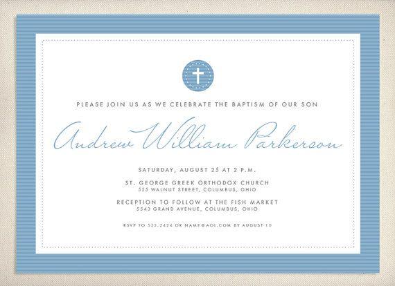 Baptism Invitation by LeaDelaverisDesign on Etsy, $20.00