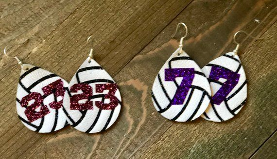Leather Volleyball Earrings Diy Crafts Jewelry Leather Jewelry Diy Diy Leather Earrings