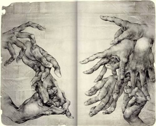 Hands on Moleskine.