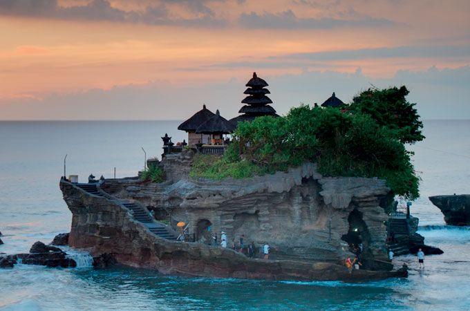 The Tanah Lot Temple by Dreamstime.com