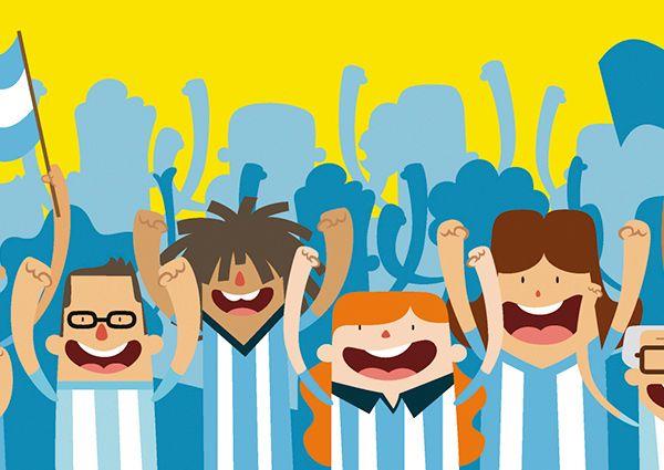 Character´s illustration - World Cup Brazil 2014  by Ignacio López Arambarri, via Behance
