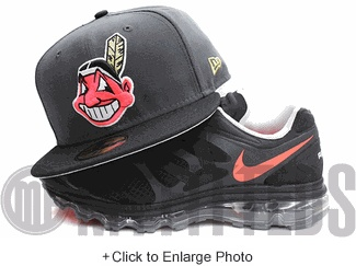 Cleveland Indians Carbon Graphite Grey Black Infrared Metallic Gold New Era Fitted Hat