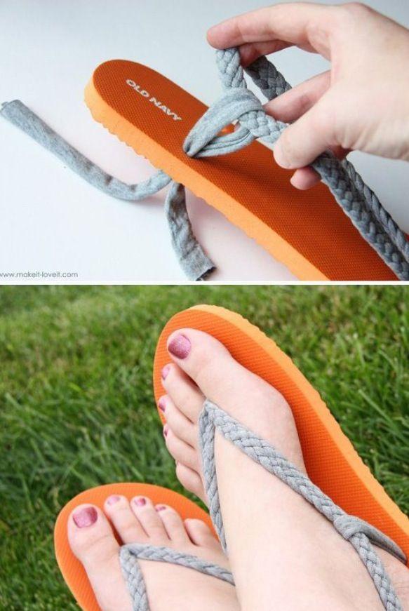 5 way braid easy to make DIY sandals