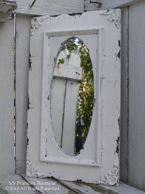shabby chic mirror by maryanne