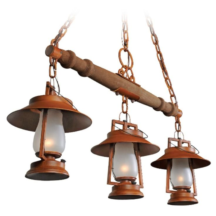 3 Light Rustic Yoke Mount Pendant