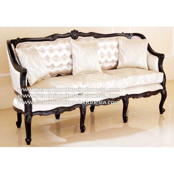 Buy Madame Ivanne Sofa 3 Seater from Indonesian Reproduction Furniture Manufacturer. #BlackFurniture #HomeFurniture #FrenchFurniture #WholesaleFurniture #FurnitureOnline
