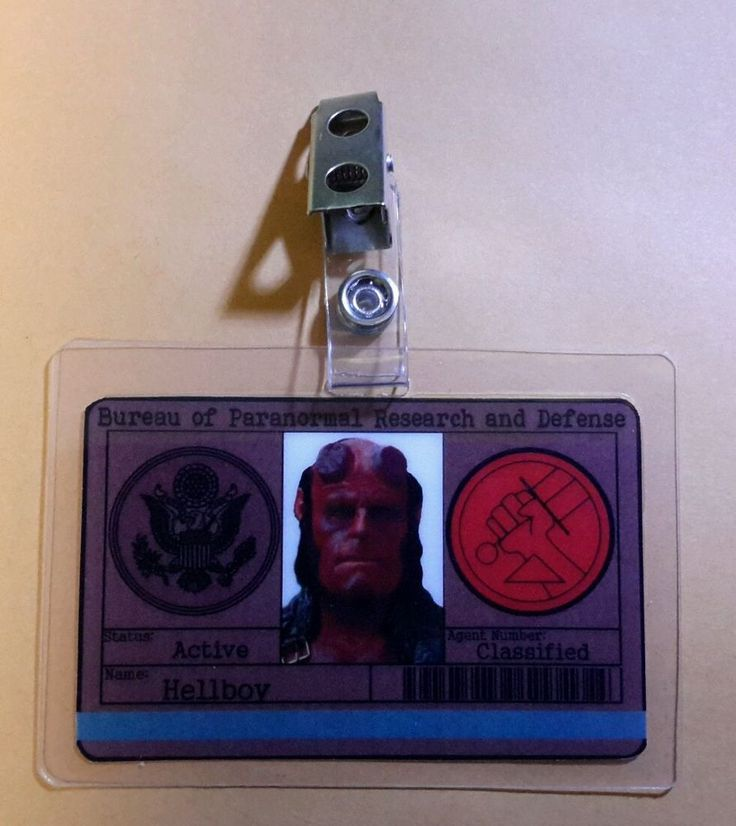 Hellboy Id Badge - Bureau Of Paranormal Research and Defense Hellboy Cosplay