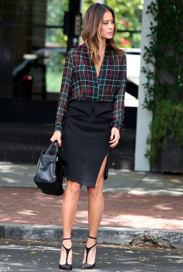 <3 WEAR IT FOR WORK <3 45 Fab Plaid Shirt Outfits Ideas that work Every Time | Plaid Shirt Outfits Ideas | Shirt Outfit Ideas | Fenzyme.Com