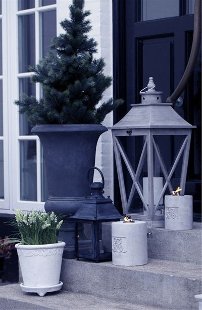 outdoor on porch steps for Christmas