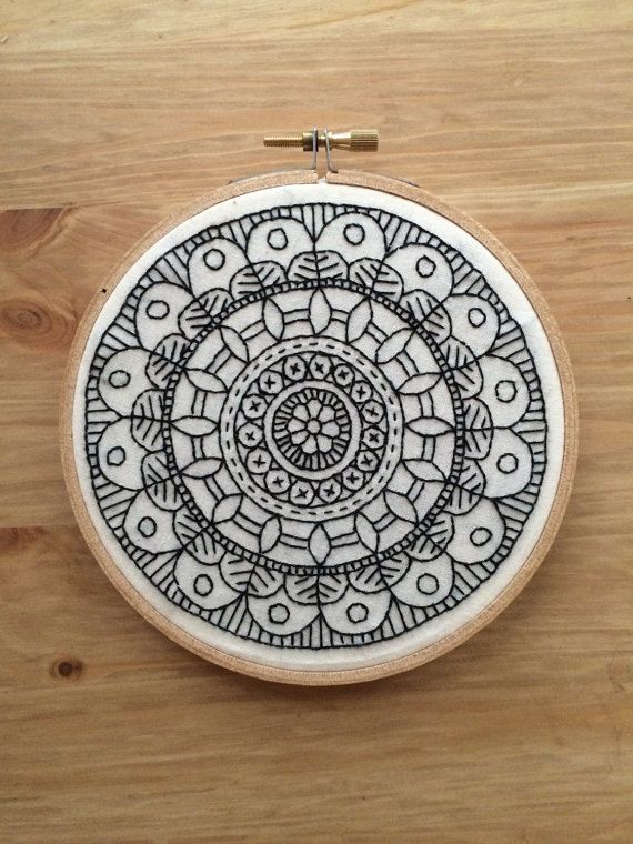 mandala embroidery hoop made to order by highstitchdesigns