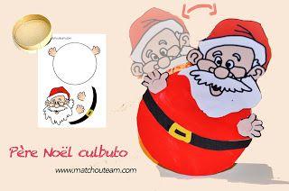 Père Noël culbuto |    Kit du Père Noël culbuto, un petit père Noël qui bascule sur lui même!!