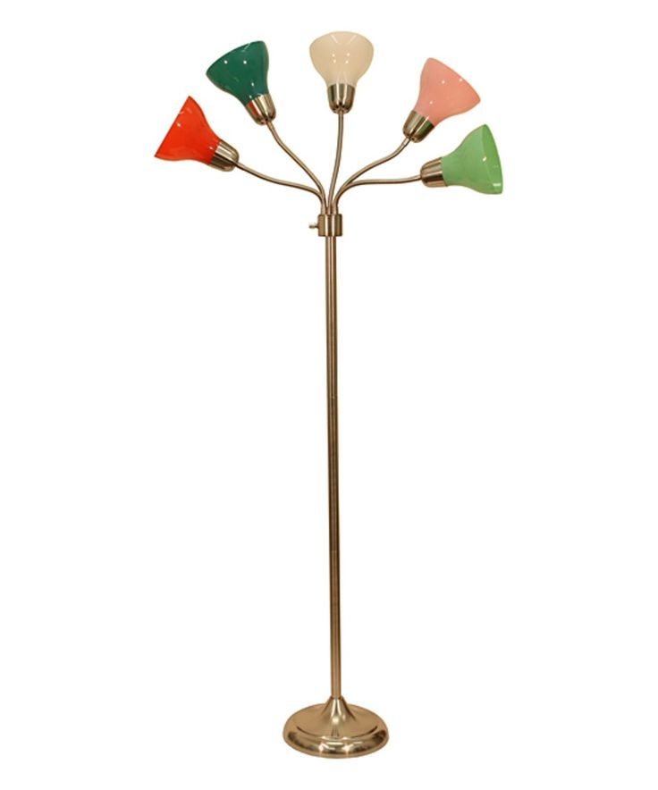 Look at this #zulilyfind! Red & Blue Five-Light Floor Lamp by Décor Therapy #zulilyfinds
