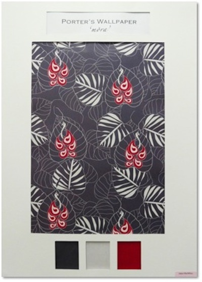 Surface Design Diploma - Industry Awards December 2012  Porters Paints Wallpaper Design Award Highly Commended - Jalpa Macmillan