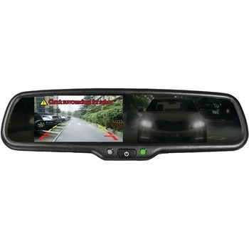 """Boyo 4.3"""" Oe-style Rearview Auto-dimming Mirror Monitor With Temperature & Compass"""