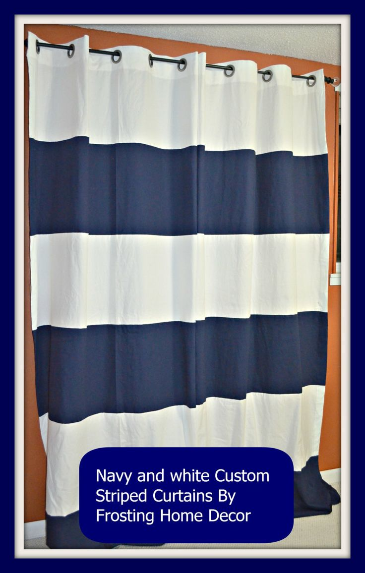 Blue and white striped curtains - Kids Room Custom Striped Curtains You Choose By Frostinghomedecor 100 00