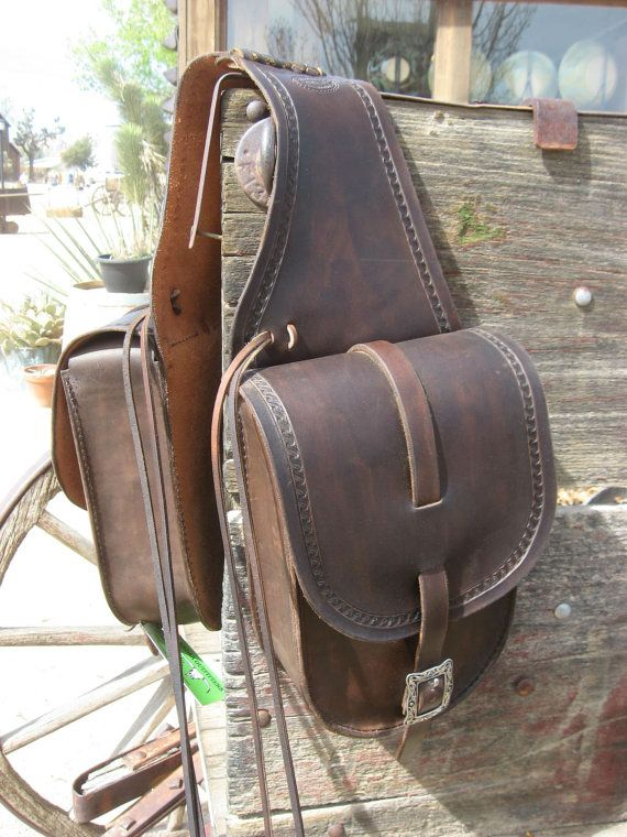 Hand-Crafted Leather Saddle Bags