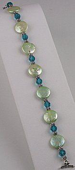 Spring Green Pearl Bracelet