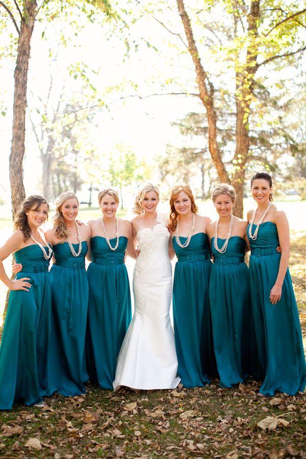 deep ocean bridesmaids dresses