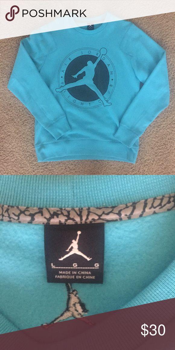 Men's Jordan Flight Club Crew Sweatshirt, Size L New without tags! Never Been worn, perfect condition. Matches Gamma Blue 11s! Jordan Sweaters Crewneck