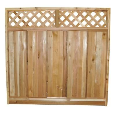 Cedar Lattice Top Fence Panels Woodworking Projects Amp Plans