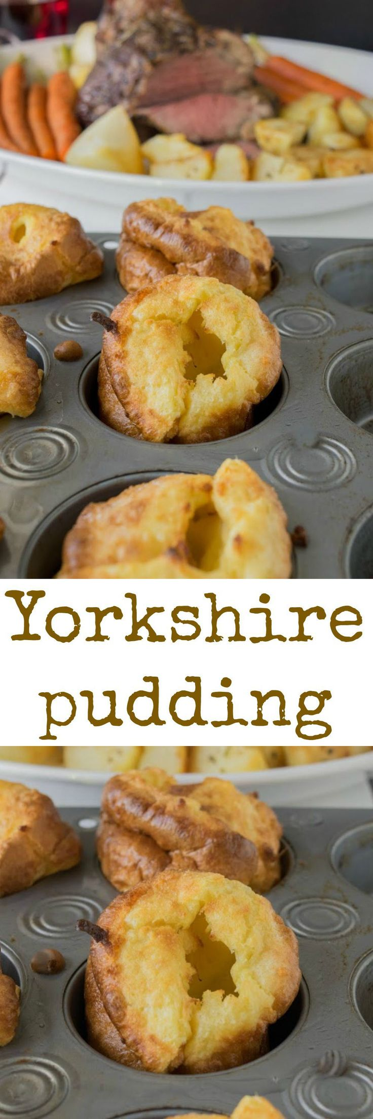 Today is National Yorkshire pudding day. A perfect day to serve this British classic side dish with a delicious Sunday roast and vegetables.