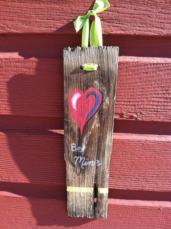 Best Cute Painted Cedar Shingle Valentines Day By 400 x 300