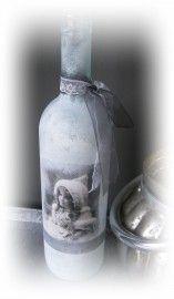 Fles met nostalgisch plaatje | € 7,-