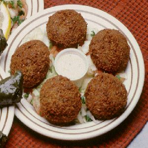 Baked falafel wraps with tzatziki sauce.These falafel cook very well ...