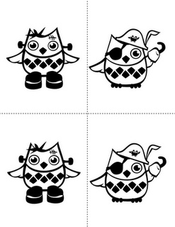 owl coloring pages could be super cute colored and resized as cupcake toppers - Cute Halloween Owl Coloring Pages
