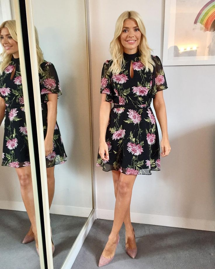 "85.4k Likes, 553 Comments - Holly Willoughby (@hollywilloughby) on Instagram: ""Morning! Today's look on @thismorning ... dress by @veryuk shoes by @lkbennettlondon """
