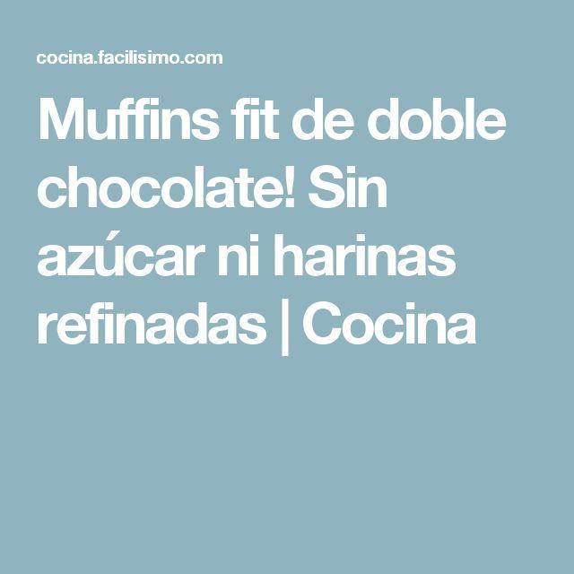 Muffins fit de doble chocolate! Sin azúcar ni harinas refinadas | Cocina