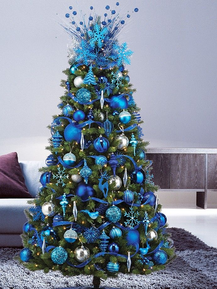 78 ideas about blue christmas on pinterest blue christmas decor christmas trees and. Black Bedroom Furniture Sets. Home Design Ideas