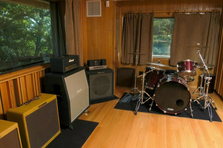 music room must haves drums piano amps guitars