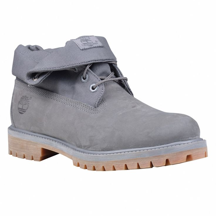 timberland men's roll top boots grey/wool