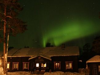 Northern Lights over Nellim Wilderness Hotel
