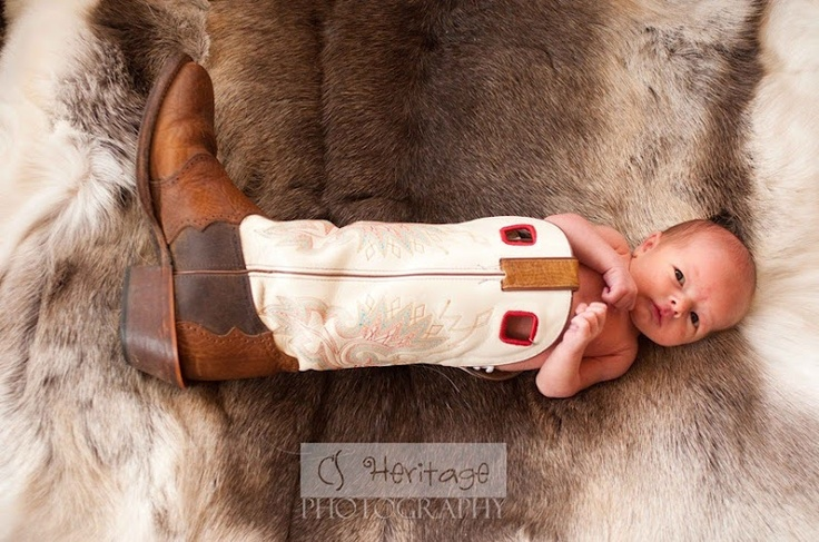 Baby in a boot picture