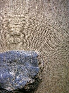 In Japanese gardens, sand is raked to look like water currents. Found on Donna Watson's Layers