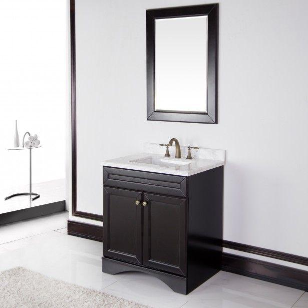 bathroom marble top bathroom vanity and single mirror the sweet 24 inch bathroom vanity for your