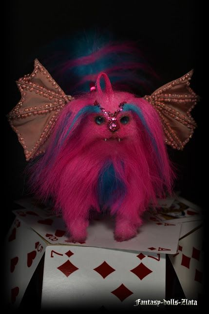"""In the Dark Circus passes night show. In the arena appear unusual magical beast! I present to You - Pink Monster.  New Project 2016 ""Dark Circus"""