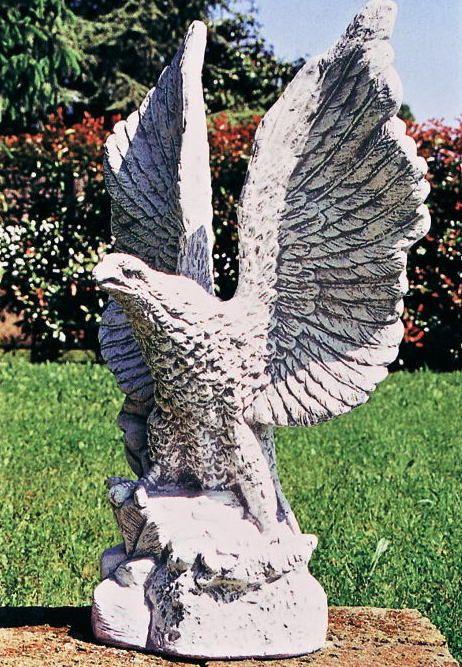 戦う鷲の石像・動物オブジェ-オーナメント通販 イタリア大理石粉砕入りと白セメントの調合