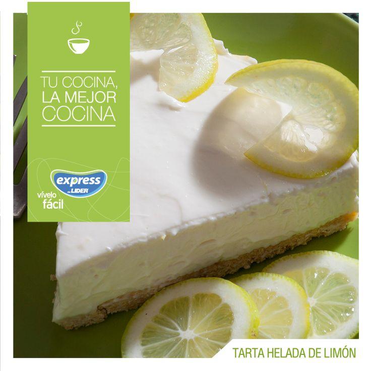 Tarta helada de limón / #RecetarioExpress #Expressdelider #Receta #Postre #Tarta #Limón