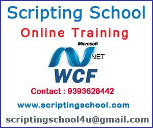 Scripting School Online Trainings provides the best Windows Communication Foundation Online Training in Hyderabad India with real time experts and with real time scenarios. For more details on Windows Communication Foundation online training please contact 9393628442 or else mail to scriptingschool4u@gmail.com. Windows Communication Foundation Online training in India