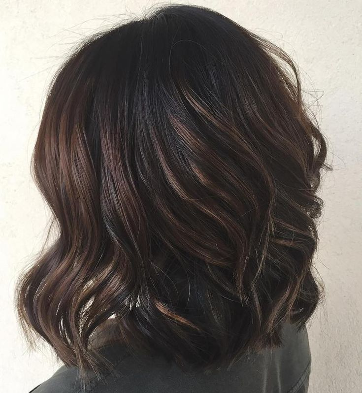 Black+Hair+With+Chocolate+Highlights