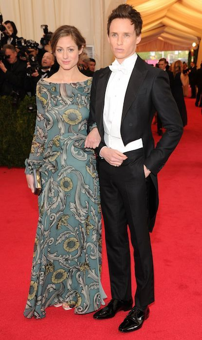 Eddie Redmayne and wife Hannah Bagshawe at the MET Gala 2014....