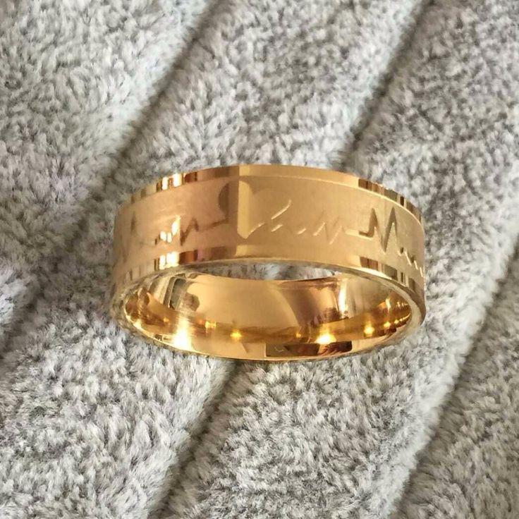 Mode liefde hart paar ring voor vrouwen mannen wedding verlovingsringen groothandel rvs sieraden