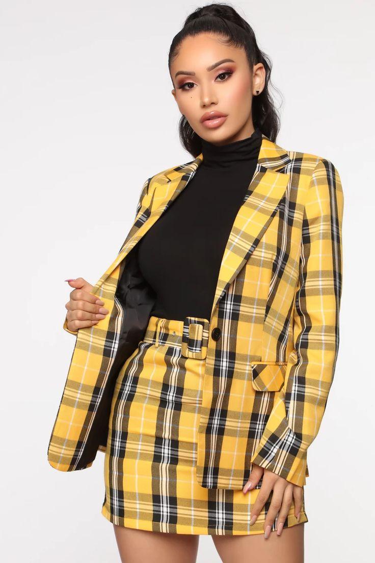 Total Betty Blazer Set Fashion, Yellow