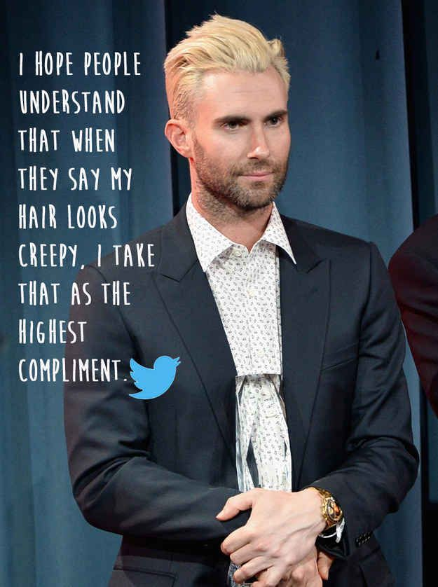 Adam Levine   20 Celebrities Who Totally Owned Their Body Image Trolls I just love this. Idk why people are concerned about other peoples appearances. Like is their look bothering you ?? too fuckin bad.